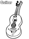 musical instruments - guitar coloring page