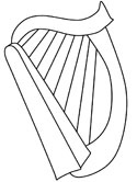 Irish harp coloring page