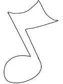 musical notes coloring page