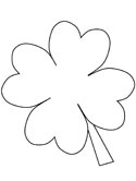 Saint Patrick's day clover coloring page