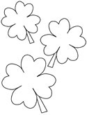 saint patrick's day shamrock coloring page