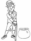 St. Patrick's Day leprechaun coloring page