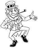 leprechaun dancing coloring page