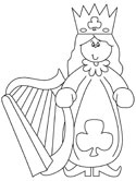 St. Patrick's Day harp coloring page
