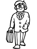 business man coloring page
