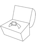 ring in a box coloring page