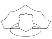 police hat coloring page