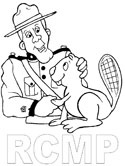 Canadian RCMP coloring page