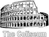 ancient Rome - coliseum coloring page