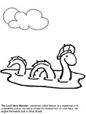 monsters and creatures - Loch Ness monster coloring page