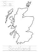 map of Scotland coloring page