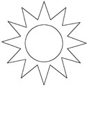 summer weather coloring page