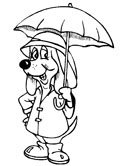 spring umbrella coloring page