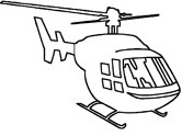 helicopter coloring page