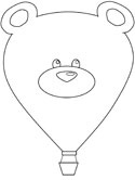 bear hot air balloon coloring page