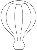 summer hot air balloon coloring page