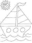 sailboat coloring pages