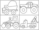 trucks coloring page