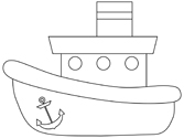 tugboat coloring page