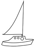 summer yacht coloring page