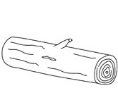 coloring pages of a log | Trees Coloring Pages