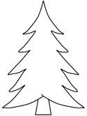 evergreen tree coloring page
