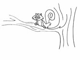 squirrel in a tree coloring page